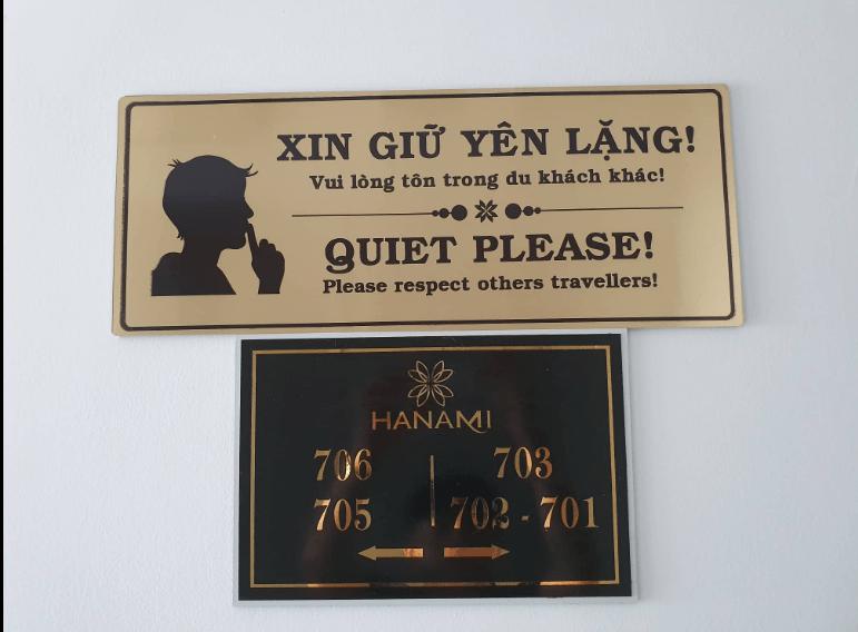 nội quy Hanami hotel DaNang