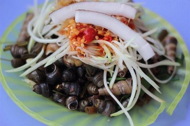 ốc hút - món ăn vặt Đà Nẵng