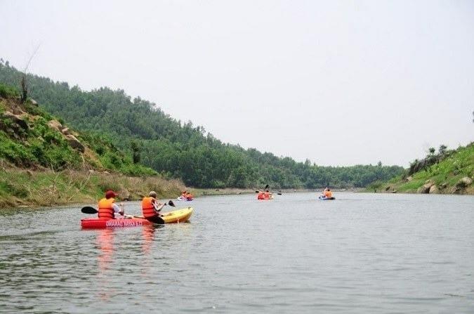 đua thuyền ở hồ đồng xanh đồng nghệ đà nẵng