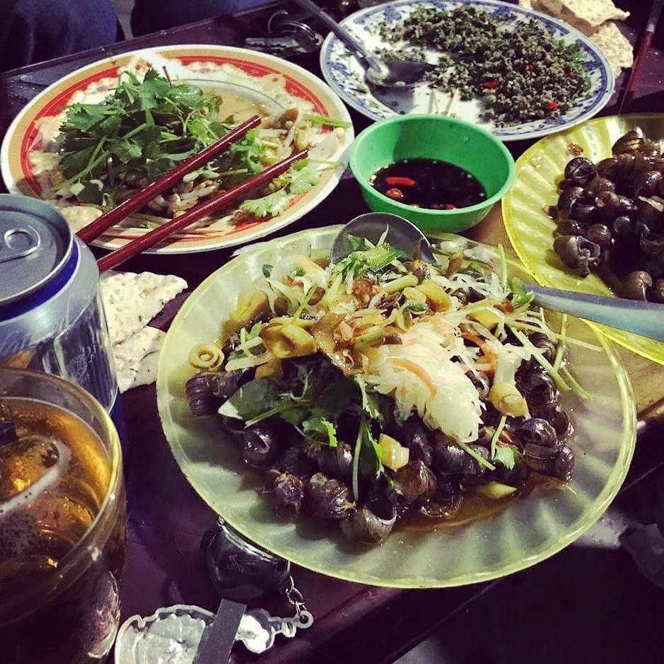 Ốc hút đà nẵng ở làng Yaourt muối Sơn Trà