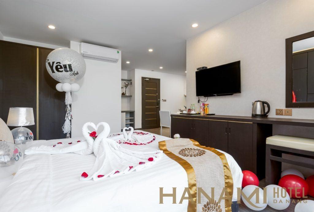 hình ảnh căn hộ 1 phòng ngủ cho thuê ở khách sạn Hanami Đà Nẵng