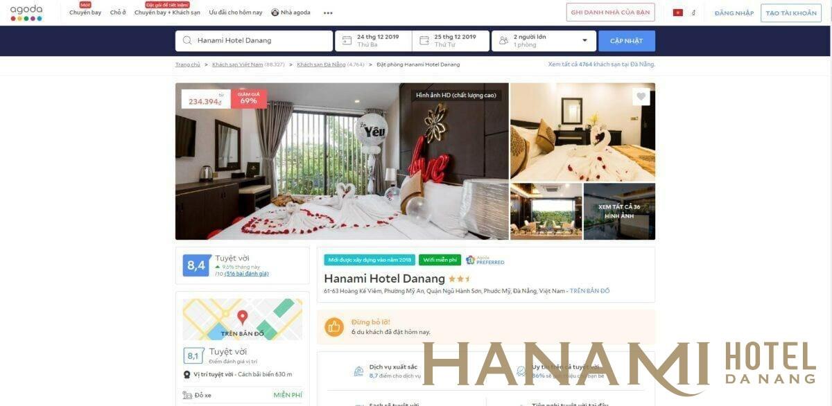 giá phòng khách sạn ven biển Đà Nẵng giá rẻ Hanami Hotel Danang