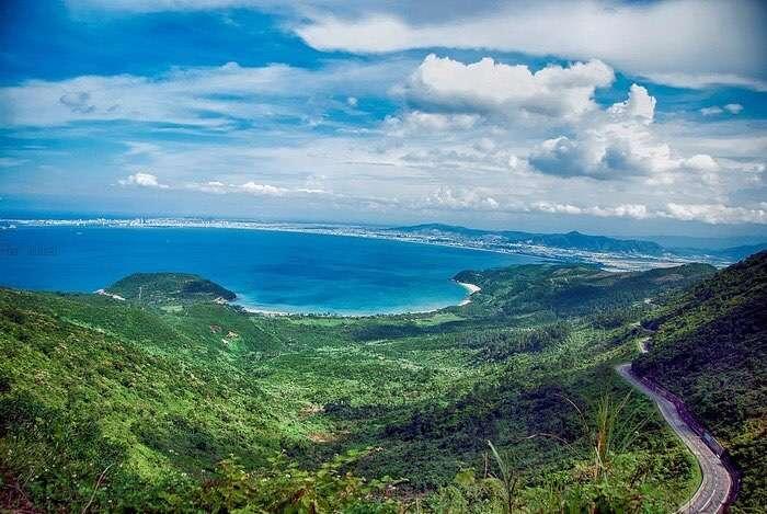 cảnh thiên nhiên ở Đèo Hải Vân Đà Nẵng