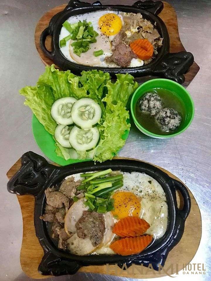 2 phần bò né ngon tại Bò né Anh Đà NẴng
