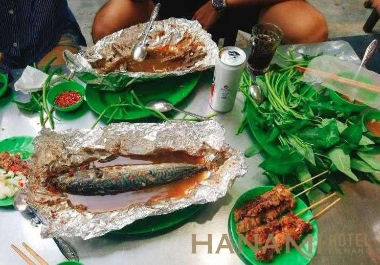 cá nục quán - hàn thuyên Đà Nẵng - Cá nục nướng bánh tráng vô cùng hấp dẫn