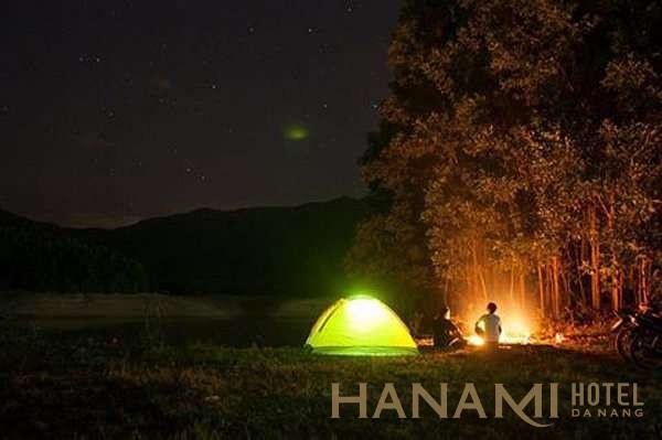 cắm trại ở hồ Hòa Trung Đà Nẵng