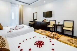 nội thất phòng deluxe family Đà Nẵng