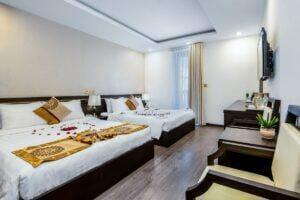 nội thất phòng khách sạn phù hợp gia đình