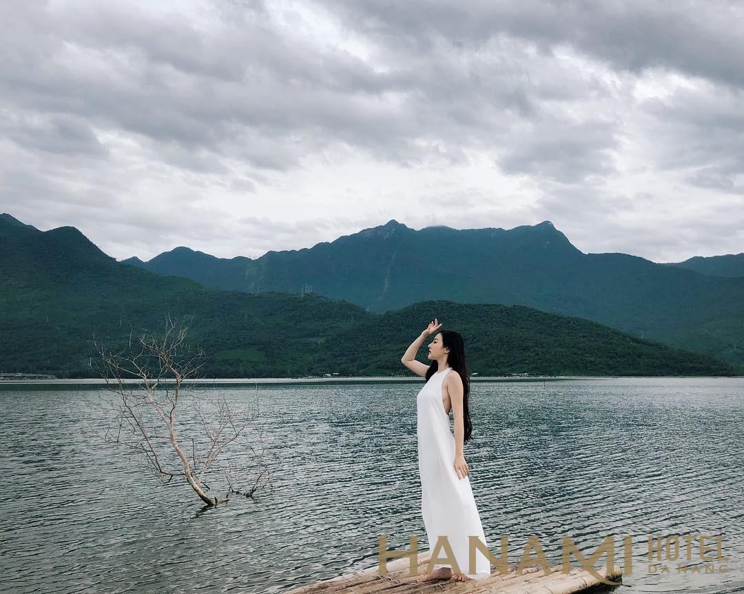 phong cảnh non nước hữu tình ở đầm Lập An